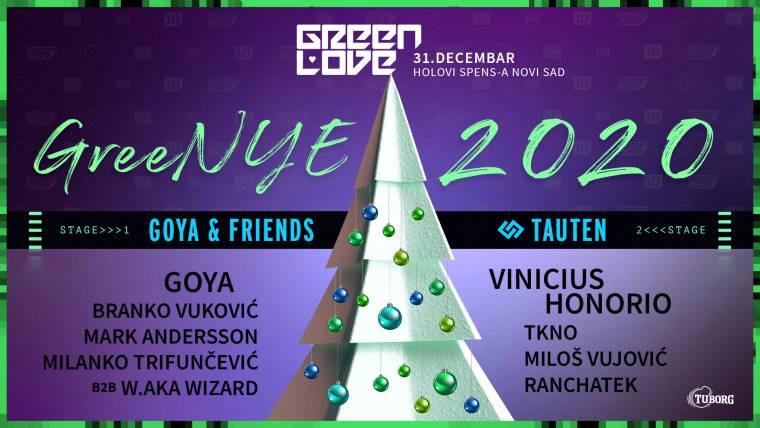 Green Love novogodišnji spektakl na Spensu 31. decembra